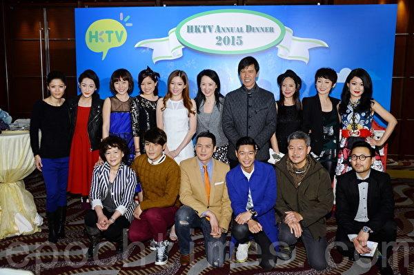 香港電視周年晚會,眾多藝人到場。(宋祥龍/大紀元)