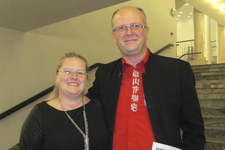 Mariusz Goska是来自国家健康基金组织的政府官员,3月7日晚,他和妻子Anna Goska一起观看了神韵在罗兹大剧院的首场演出。(麦蕾/大纪元)
