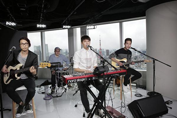 台湾第一团受邀!宇宙人赴日本YouTube Space Tokyo全球直播开唱。(相信音乐提供)