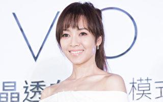 艺人侯佩岑3月13日在台北出席代言活动,她开心分享,现在只要看到6个月大的宝贝儿子伊恩就很满足。(陈柏州/大纪元)