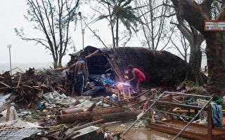 太平洋飓风帕姆(Pam),于2015年3月14日袭击南太平洋岛国瓦努阿图,已造成至少造成8人死亡、20多人受伤。国际救援物资已于15日,进入该国协助救灾。(UNICEF Pacific/AFP)