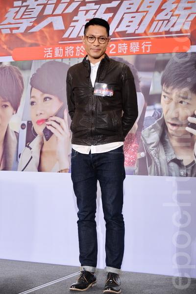饰演暗角被警察打的陆骏光感恩终于有机会饰演重要戏份。(宋祥龙/大纪元)