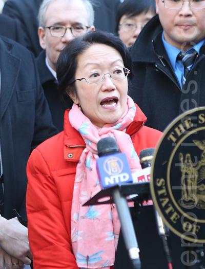 市議員陳倩雯:「今年白思豪有足夠的時間思考,我要提醒市長:守住自己的許諾。」(杜國輝/大紀元)