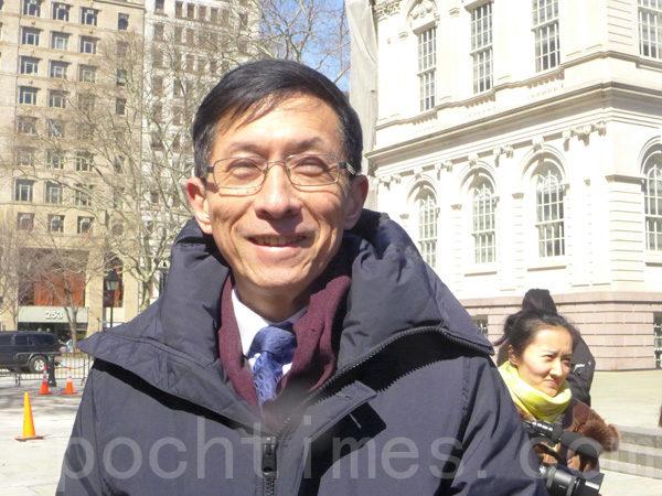 華埠共同發展機構行政總監陳作舟:「慶祝黃歷新年的,不止是中國人。這是一個包括韓國、日本、泰國、馬來西亞很多亞洲國家的共同節日。」(蔡溶/大紀元)
