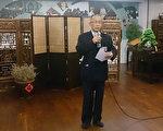 慈济美国总会17日召开记者会,副执行长葛济舍(图)澄清美国投资是当地募善款,非台湾本会提供。(中央社)