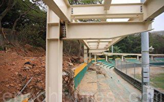 有民众反映,天空步道的施工区有林地被破坏的痕迹,希望县府重视。(郭益昌/大纪元)