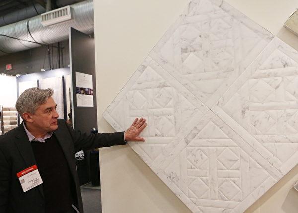 高端室內裝飾材料生產商Paris Ceramics的產品。(杜國輝/大紀元)