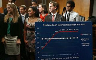 负有学贷债务的美国大学毕业生如果在符合条件的非营利机构(NPO)或政府部门担当全职工作,并具有10年的按时还贷记录,就可以被获准不必再支付剩余的学贷款项。图:2013年6月6日美国国会举行一场关于学贷利率的新闻会。(Mark Wilson/Getty Images)