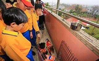 台中市推動校園認養流浪動物,進一步培養孩子尊重及愛惜生命的價值觀。(台中市政府提供)
