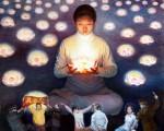 《莲心》,陈肖平,油彩画布,40x39.5in,2004
