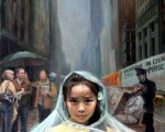 《雨中(纯真的呼唤)》,陈肖平,油画/帆布,66x92cm,2005