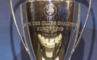 欧洲冠军联赛冠军奖杯。(Christian Hofer/Bongarts/Getty Images)