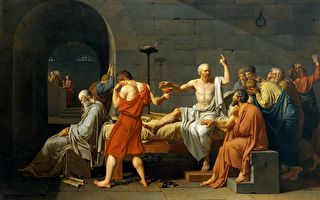 [法]雅克―路易‧大卫《苏格拉底之死》,美国大都会艺术博物馆藏。(公有领域)
