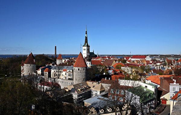 爱沙尼亚的第一大城塔林。(DIMITAR DILKOFF/AFP)