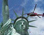 纽约每年都吸引著全球数百万游客,图为自由女神像。(戴兵/大纪元)