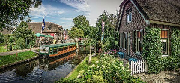 荷兰羊角村小桥流水(pixabay)