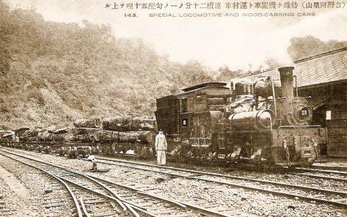 阿里山鐵路運材列車(圖片提供:tony)