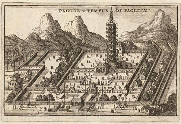朱棣下令建造南京大報恩寺琉璃寶塔,全塔採用琉璃,是世界罕見的琉璃建築。(維基百科公共領域)