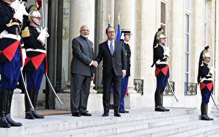 印總理首次訪歐 法盼簽世紀軍售合約