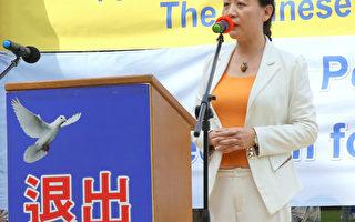 民主中國陣線主席盛雪女士。(攝影:何蔚/大紀元)