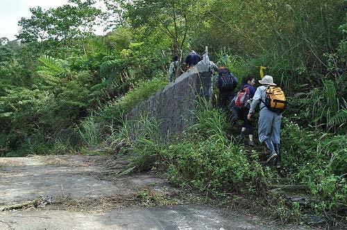 九芎坑山第二登山口,进入南势坑古道山林旧径。 (图片提供:tony)