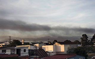 哥斯大黎加图利尔巴(Turrialba)火山23日爆发,火山灰迫使首都圣荷西的机场关闭。(EZEQUIEL BECERRA/AFP)