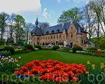 比利时布鲁塞尔大拜哈尔登城堡(Château de Grand-Bigard)的公园迎来了第十二届春季花卉展览。(萧依然/大纪元)