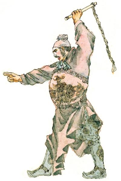 磨勒拿了鏈椎準備去打死曹州孟海之犬。(大紀元圖片庫)