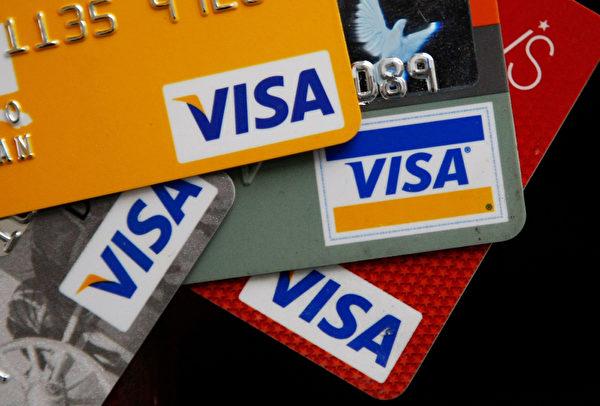 相較於2014年的排名,Visa躍升了2名,來到第5名。主因是全世界的信用卡業務表現亮麗。 (Justin Sullivan/Getty Images)