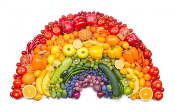 蔬果顏色愈深,其抗氧化劑含量愈高;攝取各類蔬果能為健康加分。(Fotolia)