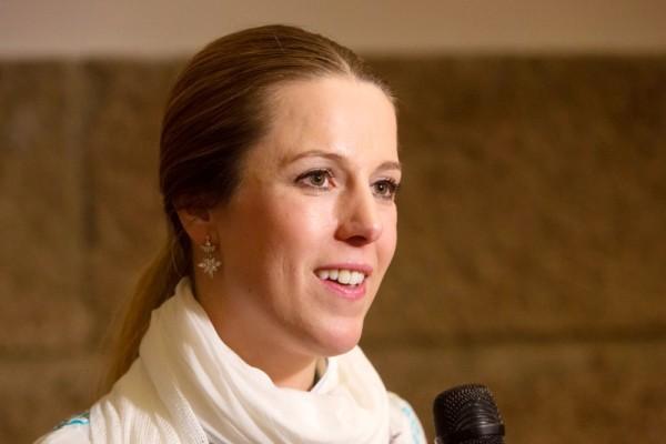 女高音歌唱演员Diana-Marisa Brachvogel女士欣赏了4月20日美国神韵国际艺术团在萨尔兹堡的演出。(Matthias Kehrein/大纪元)