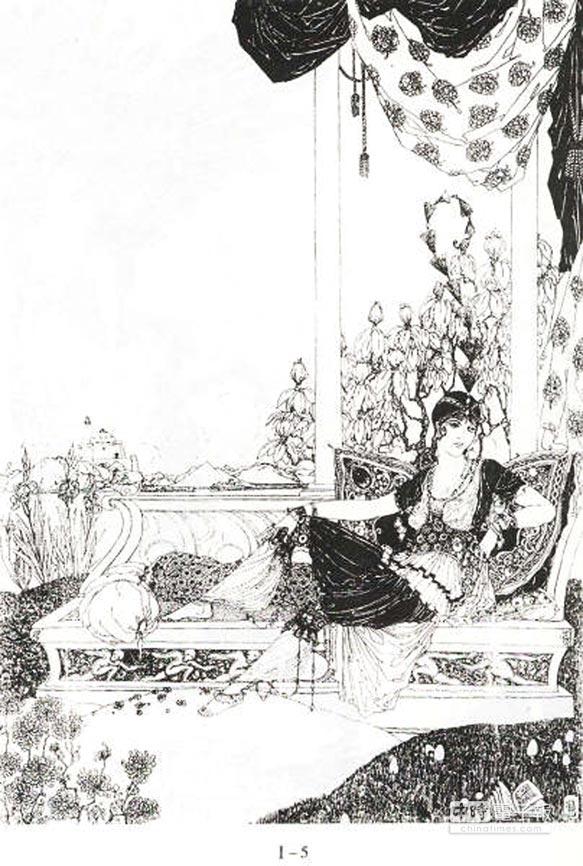 鲍尔弗(Ronald Balfour)《鲁拜集》插图。傅正明/图片提供