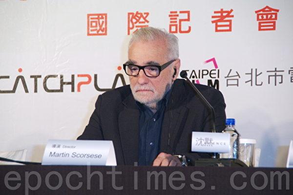电影《沉默》国际记者会于2015年5月4日在台北举行。图为导演马丁‧史柯西斯(黄宗茂/大纪元)