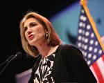 惠普公司前女首席执行官菲奥莉娜(Carly Fiorina)5月4日宣布参加美国共和党2016总统候选人提名战,使她成为党内首位角逐2016美国大选的女性。(Scott Olson/Getty Images)