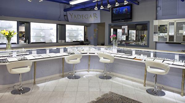 就是這一家,扎克伯格購買紅寶石鑽戒的店Yadeger。(許心如/大紀元)