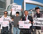 5月6日晚,库柏蒂诺副市长、市议员张昭富也到场表示支持反扩容民众。(马有志/大纪元)