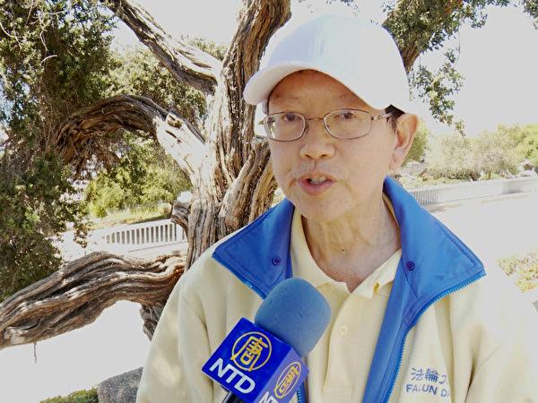 越南華裔法輪功學員安迪。(鄭浩/大紀元)