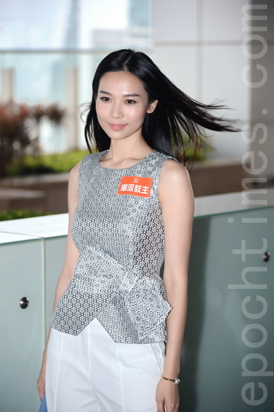 楊秀惠在尖沙咀拍攝《潮流教主》外景。(宋祥龍/大紀元)