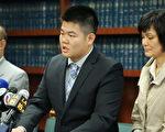 中国留学生陈段英被控虐待动物等五项罪名,恐面临六年十个月牢狱(右为陈段英母亲)。(黄文华/大纪元)