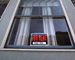 加州房租全美最高,而且还在迅速增长。图为旧金山一个公寓出租广告。(Justin Sullivan/Getty Images)