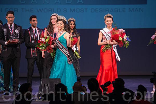 世界小姐加拿大区决赛(Miss World Canada)5月16日在温哥华举行,多伦多华裔女孩Anastasia Lin脱颖而出,荣获冠军。(景浩/大纪元)