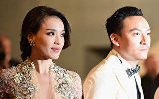 舒淇(左)与张震为电影《聂隐娘》首映出席戛纳(坎城)影展。(Ben A. Pruchnie/Getty Images)