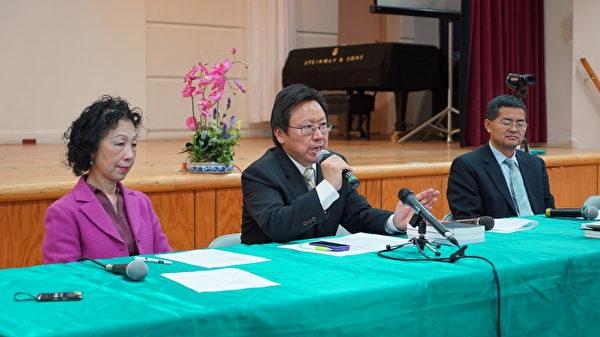 5月23日下午,時事評論家陳破空先生與郭寶勝牧師應邀在紐約台灣會館進行以「台美關係與蔡英文訪美」為主題的時事座談會。發言者為陳破空先生。(謝東延/大紀元)