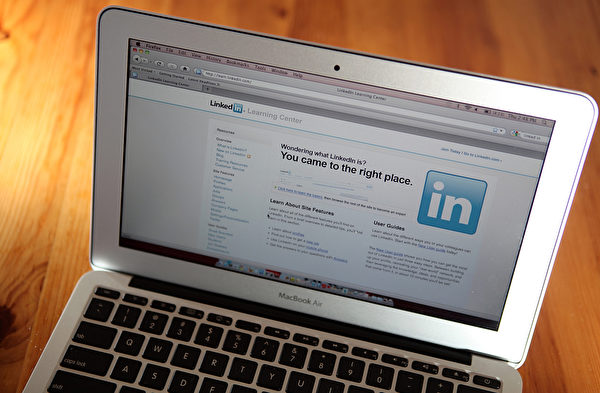 商业社交网站LinkedIn。(Justin Sullivan/Getty Images)
