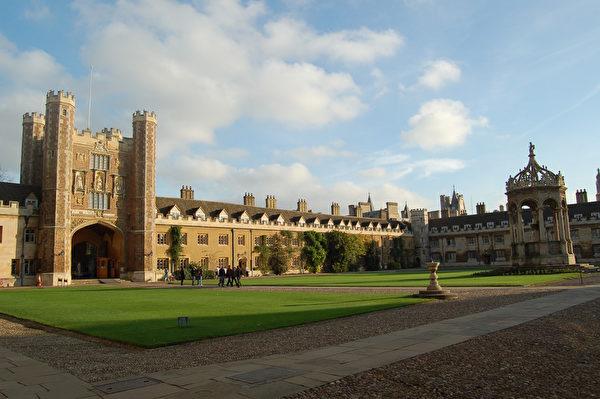 具有500年历史的剑桥大学三一学院。(LOIC VENNIN/AFP)