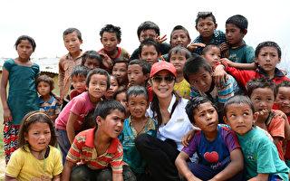 杨紫琼在尼泊尔赈灾。(公关提供)