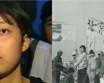 唐路1989年在北京。左圖是六月四日凌晨唐路离開天安门广场时,接受媒體採訪的视频截圖。(網路圖片大紀元合成)