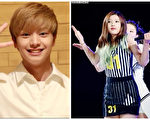BTOB成员陆星材(左)与Red Velvet成员Joy(前)。(视频截图/大纪元合成)