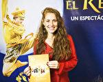 演員Marilina Gerpe Lugrin於 6月7日下午觀看了神韻舞劇團的《西遊記》舞劇。(Elina Rillafane/大紀元)