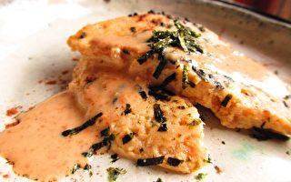 【玩料理】芝麻醬汁鮪魚蒸餅